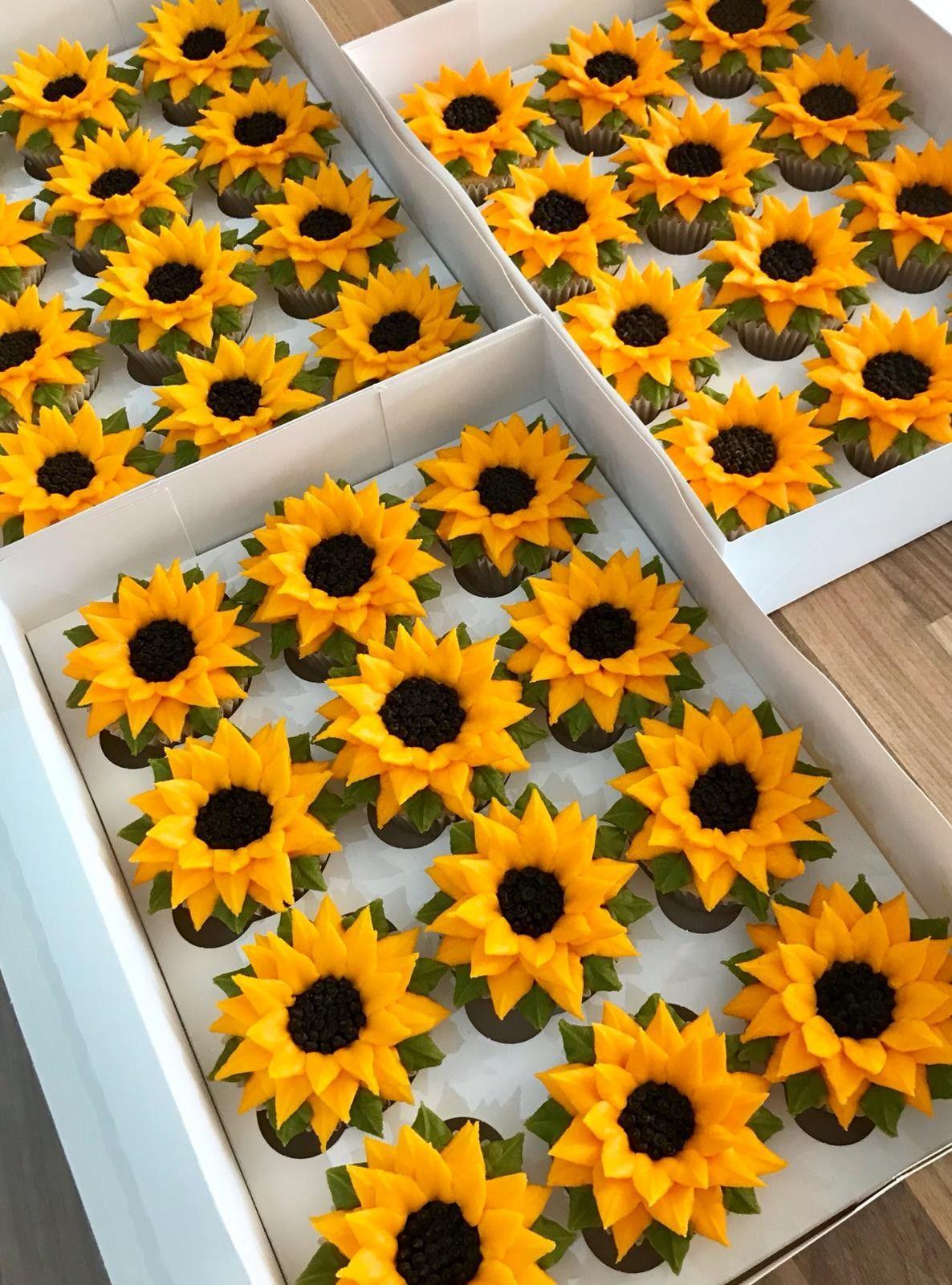 Sunflower inspired cupcakes