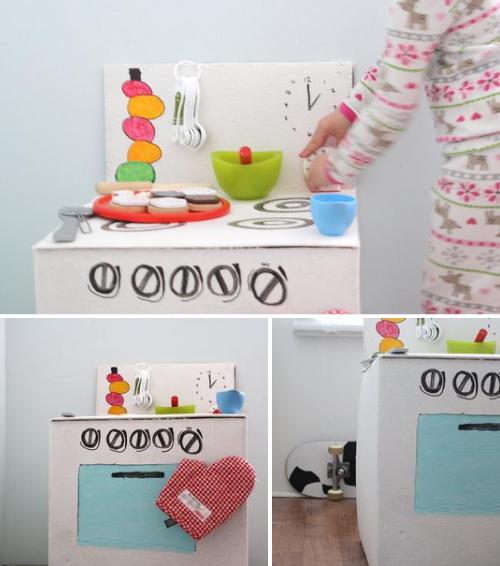 Tutorial fogão de papelão DIY