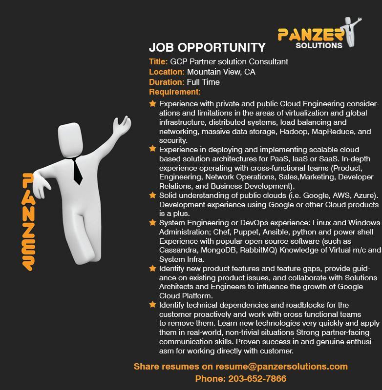 Pin by Panzer Solutions LLC on Latest IT Job Opportunities