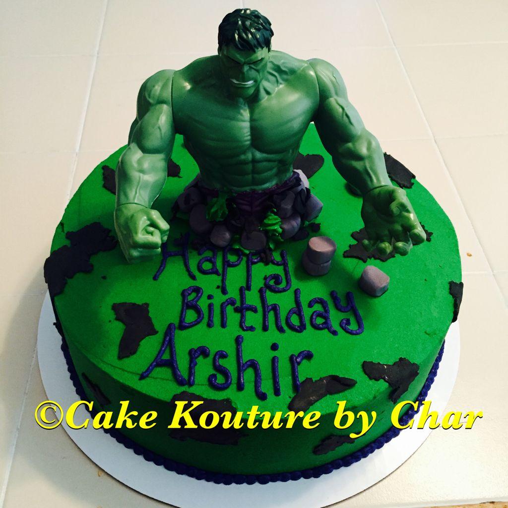 Incredible Hulk birthday cake Cake Kouture by Char Pinterest