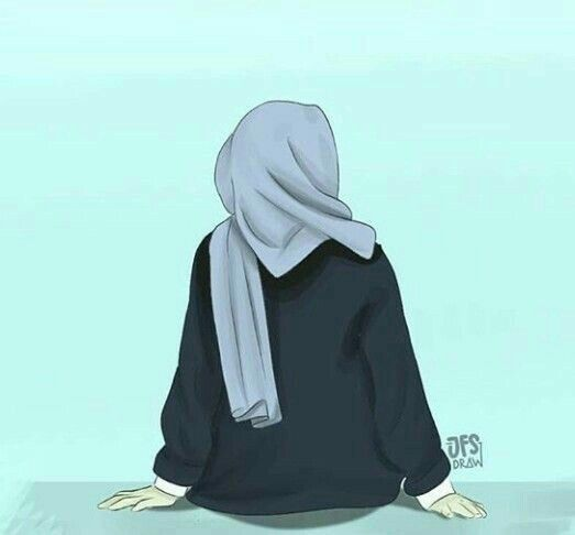 Paling Populer 47 Gambar Animasi Muslimah Dari Belakang