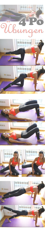 4 Po / Hintern Übungen die man Zuhause machen kann. Einfach und ...