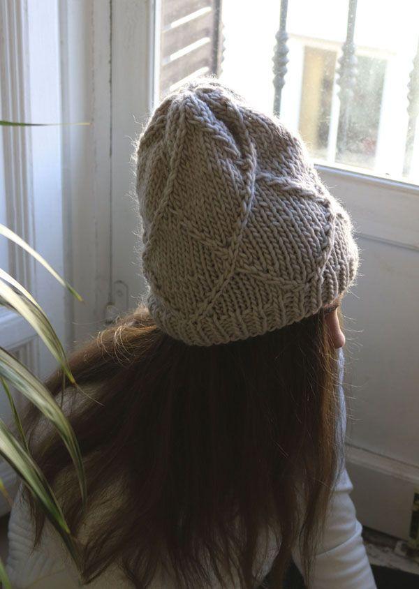 Patron gratuit pour tricoter un bonnet en laine fine | Strick ...