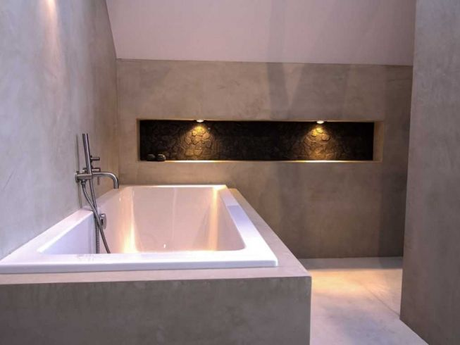Badkamer Béton Ciré | Huis | Pinterest | Interiors, Master bathrooms ...