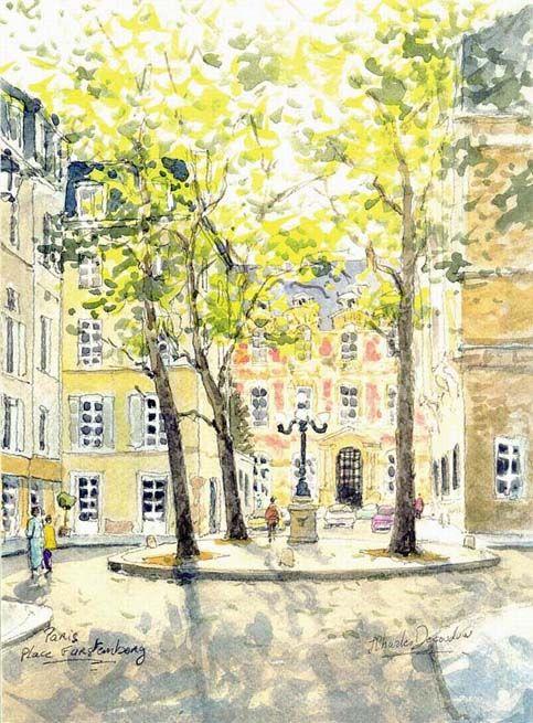 6e E Paris La Place De Furstenberg In The 3 Of Saint Germaine