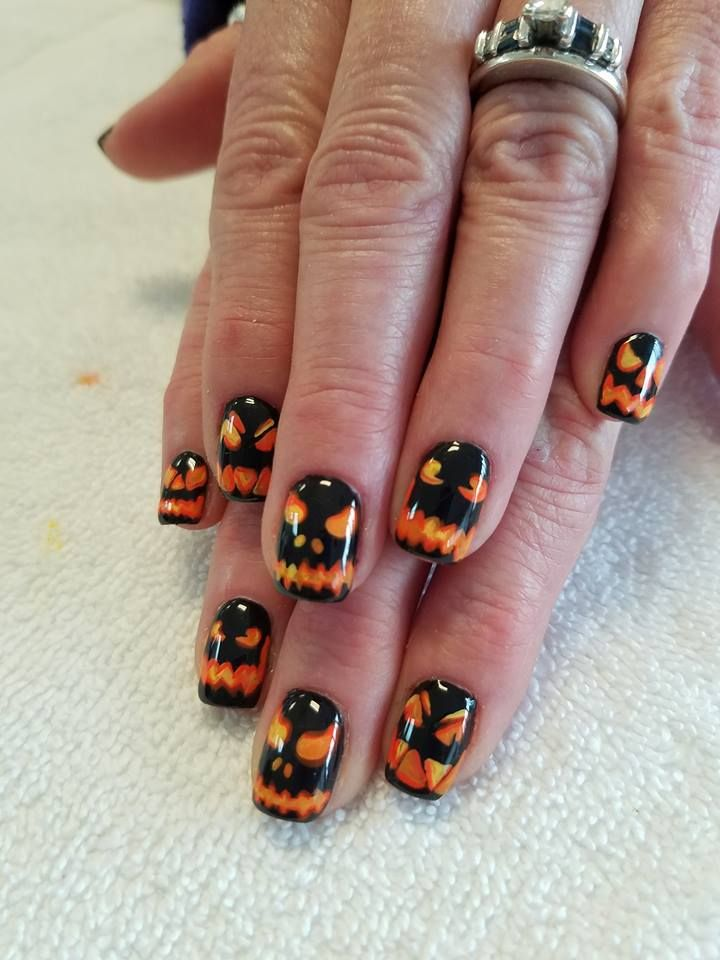 65 Creepy Nail Art Design Ideas For 2017 Halloween | Crazy nail art ...