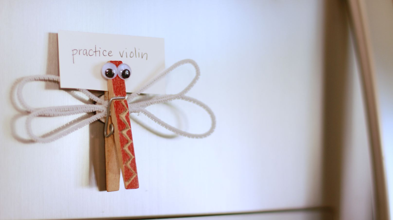 Craft Ideas For Kids Videos Part - 36: Dragonfly Clothespin Magnet: Video - Crafts For Kids .