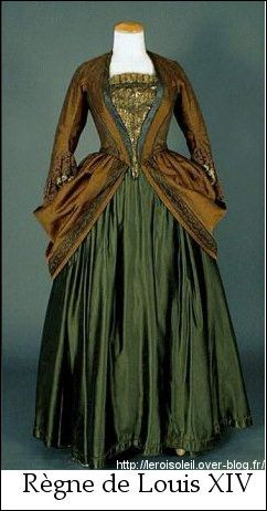 Costume féminin sous Louis XIV Mode baroque, Mode du 17e