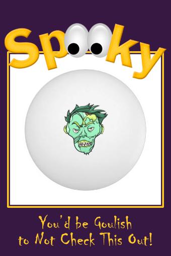 Zombie Monster Spooky HalloweenComic Ping Pong Ball #zombie #monster #spooky #scary #cartoon