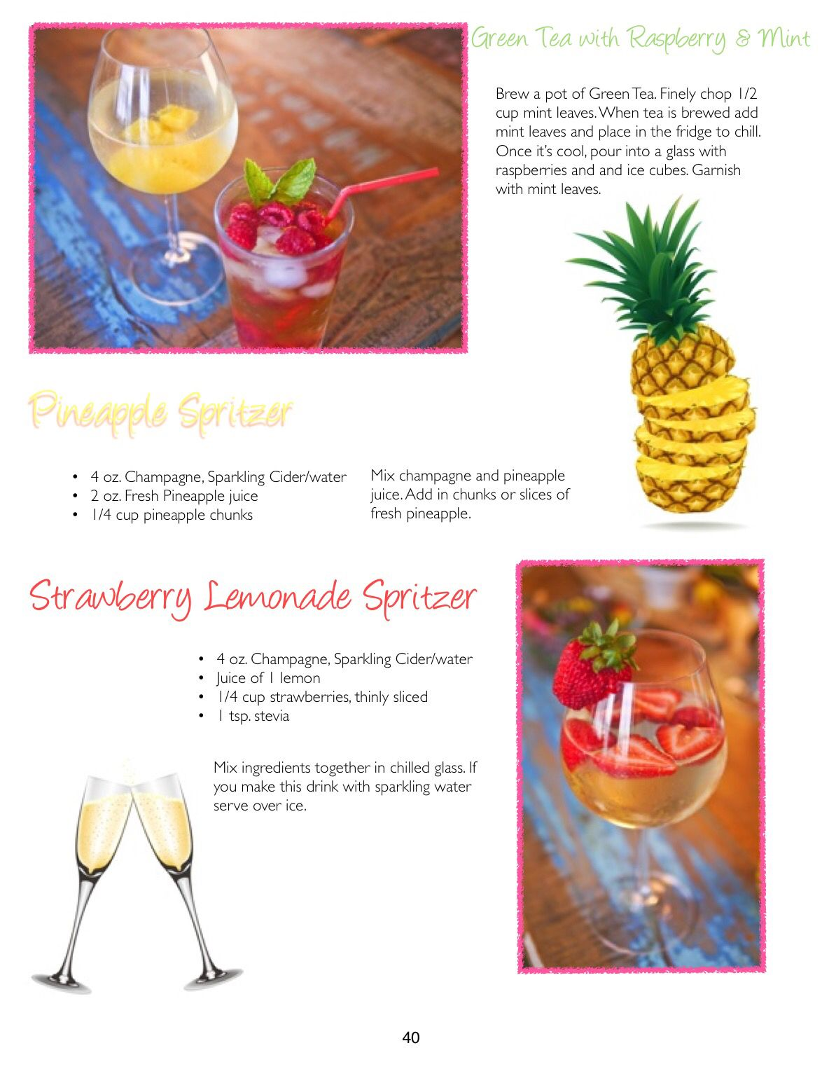 Beachy cocktails