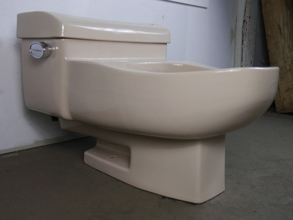 Antique Vintage American Standard Beige Toilet 1960 S