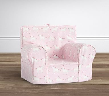 pottery barn child chair covers black tufted unicorn pink anywhere slipcover only products pinterest r