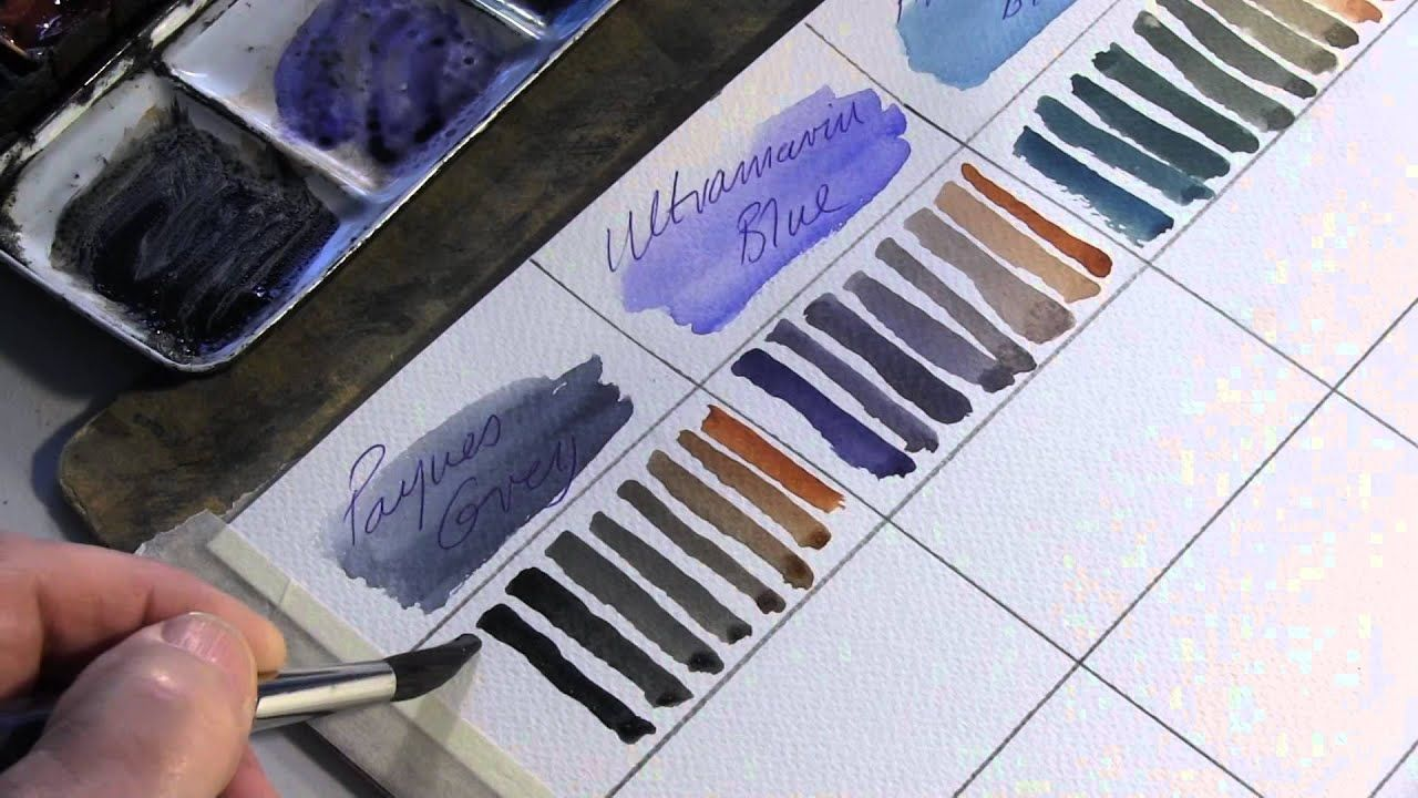 Mixing Colours For Watercolour Painting Alek Krylow