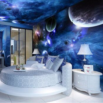 Galaxy Themed Room House Goals In 2018 Pinterest Wall Bedroom