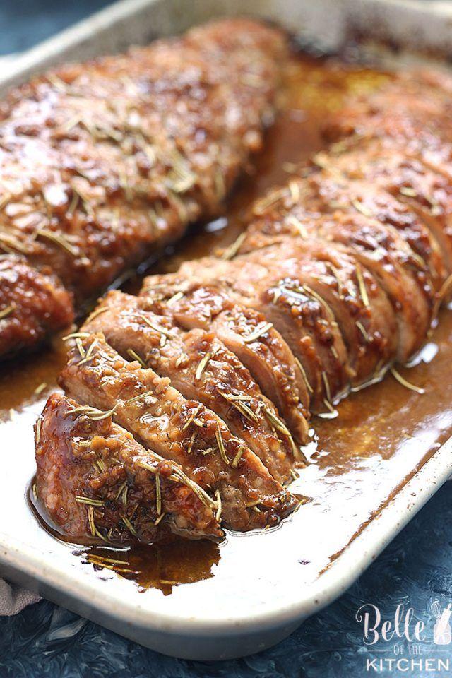 Honey Dijon Pork Tenderloin Recipe #porktenderloinrecipes
