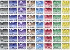 Postzegels uit de gulden en centen periode.