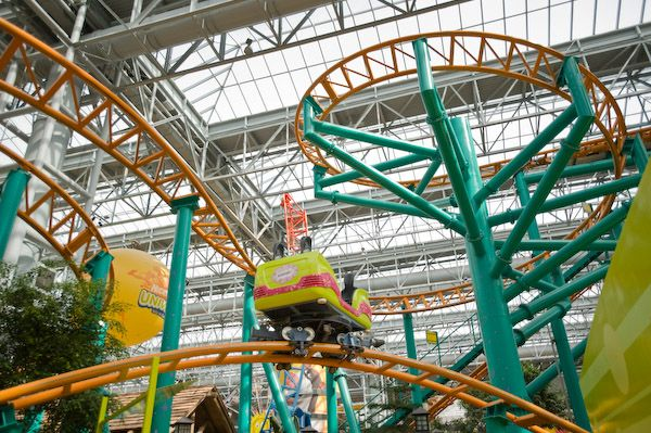 It Is A Whole New Experience Being On A Roller Coaster And Worrying About Your Head Hitting A Ceiling Roller Coaster Mall Of America Roller