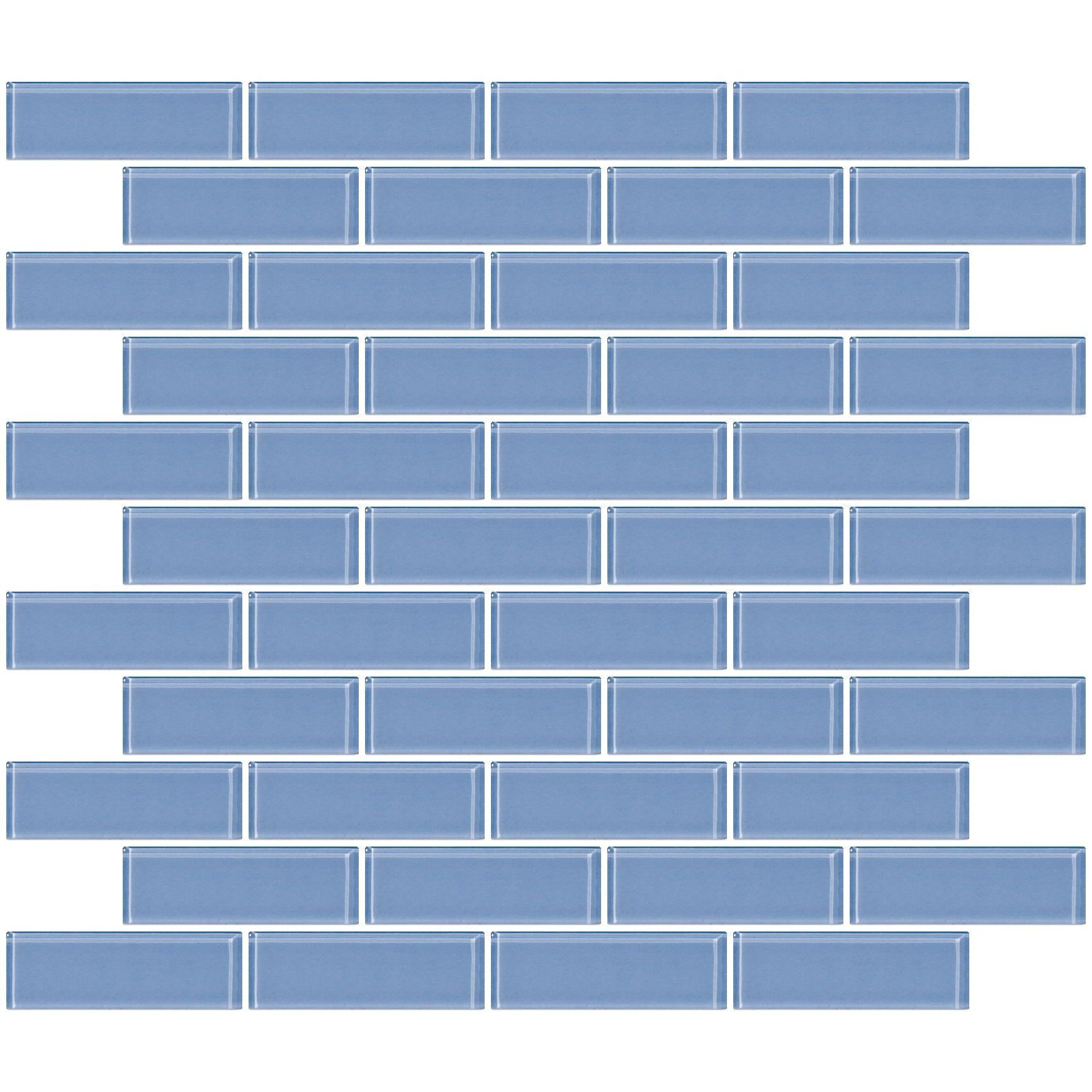 1 X 3 Gl Subway Tile In Light Periwinkle Blue Plan