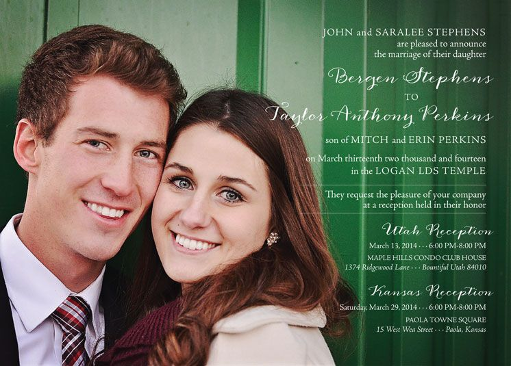 Great Wedding Invitation Ideas | Utah Announcements | Www.utahannouncements.com