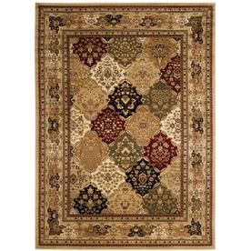 Safavieh Lyndhurst Diamond Baktiari Multi Beige Indoor Area Rug Common 10 X 14 Actual 10 Ft W X 14 Ft L Lnh221c 10 Rugs Area Rugs Patchwork Rugs