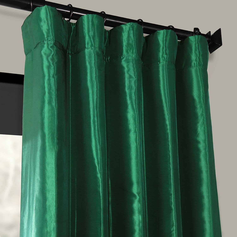 Emerald Green Faux Silk Taffeta Curtain Emerald Green Curtains