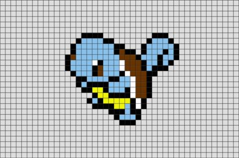 Pokemon Squirtle Pixel Art Pixel Art Grid Pokemon Cross