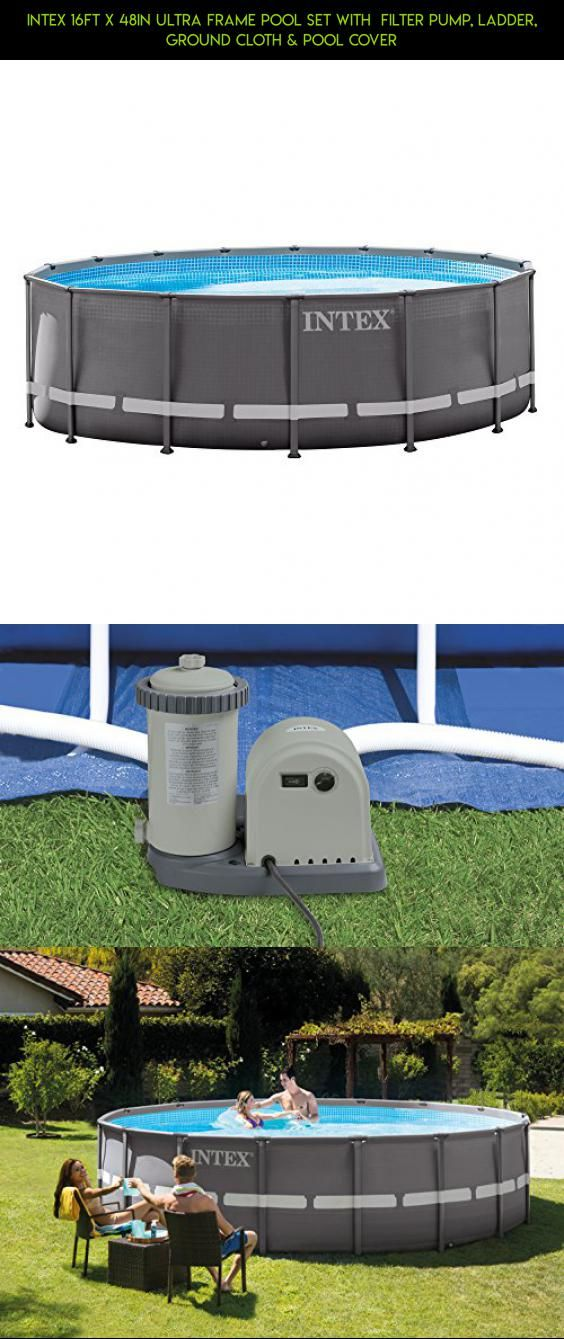 Intex 16Ft X 48In Ultra Frame Pool Set with Filter Pump, Ladder ...