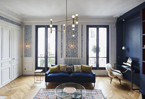Un appartamento haussmaniano rinnovato con stile casa deco interieur appartement d co - Lumiere d ambiance salon ...