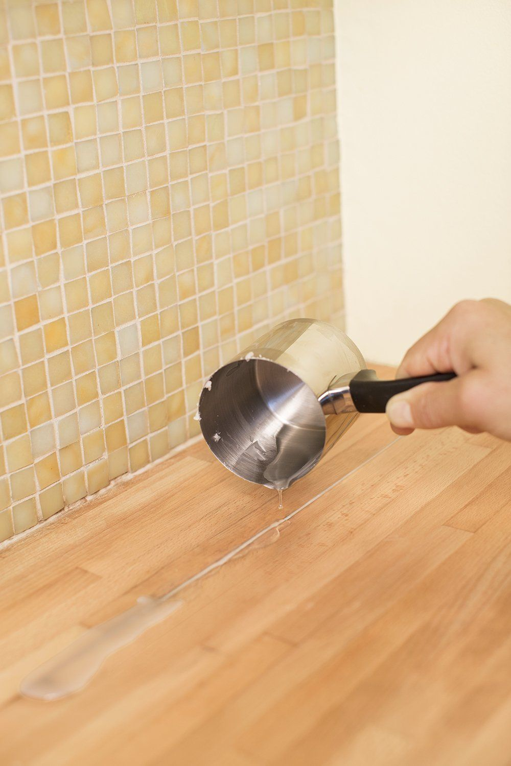 Use Melted Canning Wax To Fill S Or Separations In Wood Countertops And Se Off Excess Before Sealing With A Finish