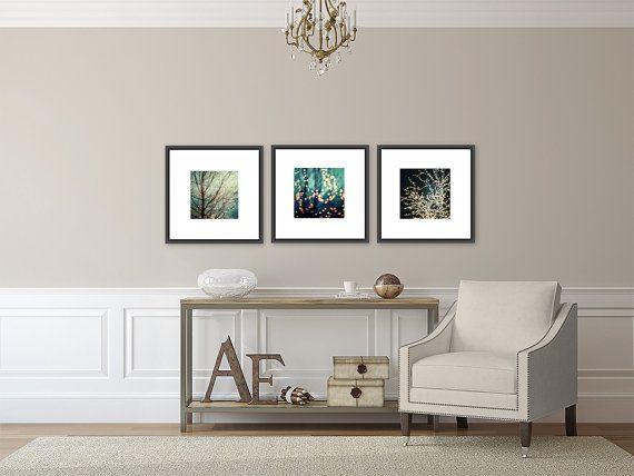 Aqua Decor Set Of 3 Prints For IKEA RIBBA By LisaRussoFineArt