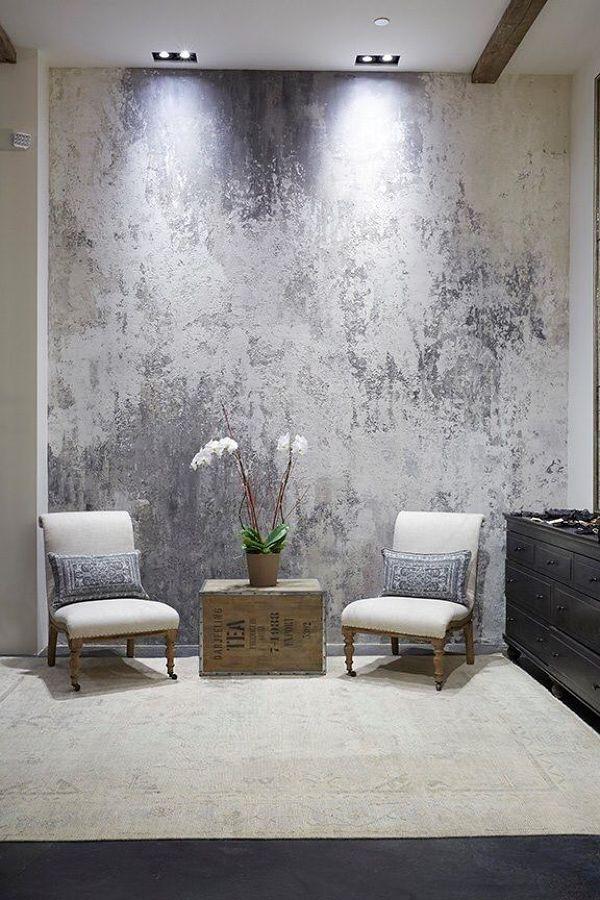 Pintura metalizada  Paredes  Pinterest  Interiores