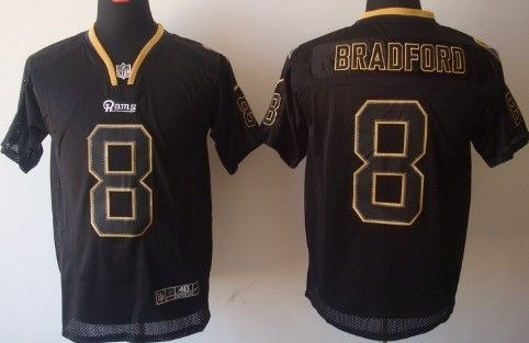 Nike St. Louis Rams  8 Sam Bradford Lights Out Black Elite Jersey ... 365e4c22f