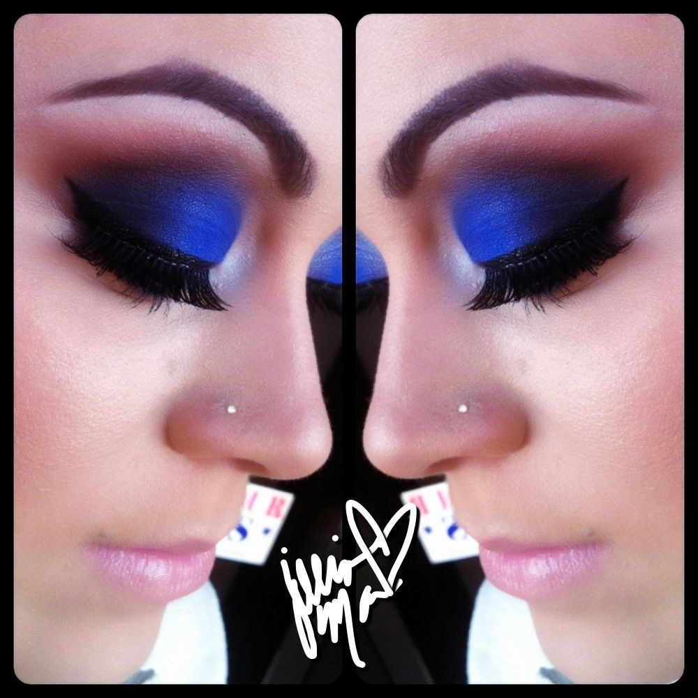 Bang on Blue Eyeshadow by MAC, Makeup by Jillian Mac (IG JillianMac)