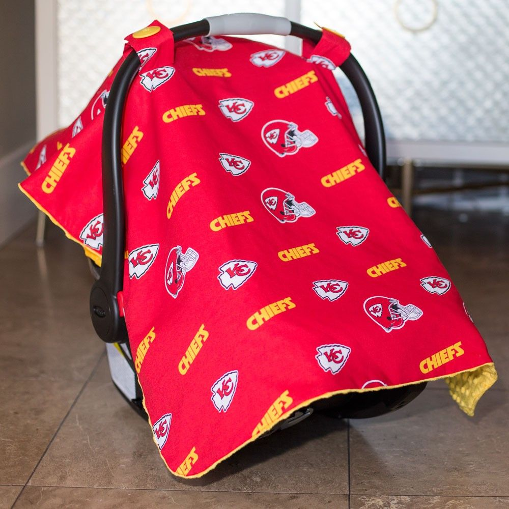 buy popular 35501 73830 Kansas City Chiefs Baby Gear: Infant Carseat Canopy Cover ...