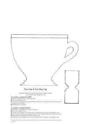 tea cup and tea bag templates printables pinterest tea cup
