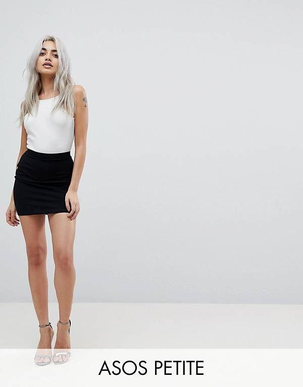 ASOS PETITE Mini Skirt in Jersey