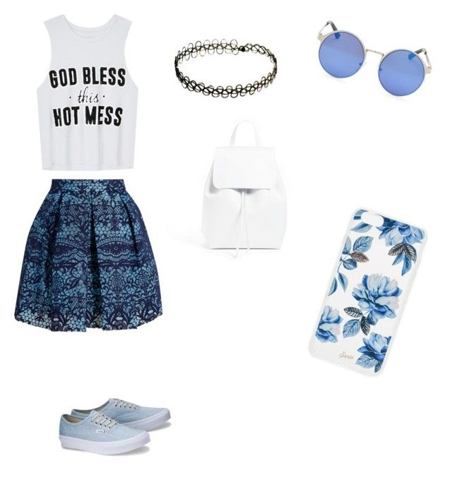"""""""Untitled #9"""" by ivailachalukova ❤ liked on Polyvore featuring Maje, Mansur Gavriel and Sonix"""