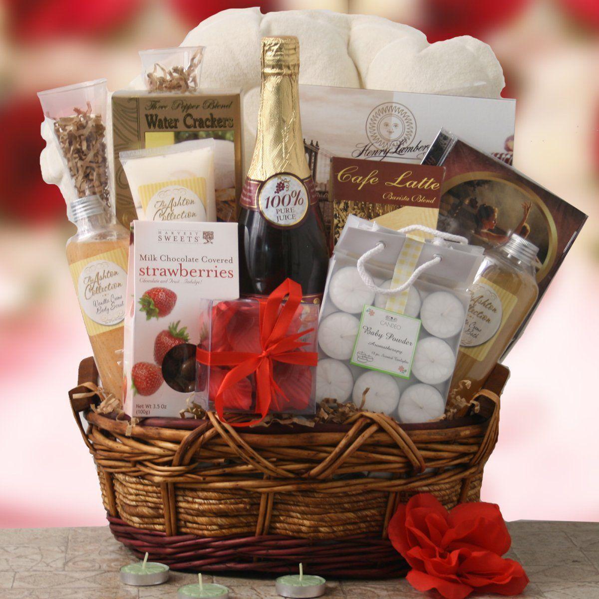 Everlasting love gift basket bubble bath lotion body