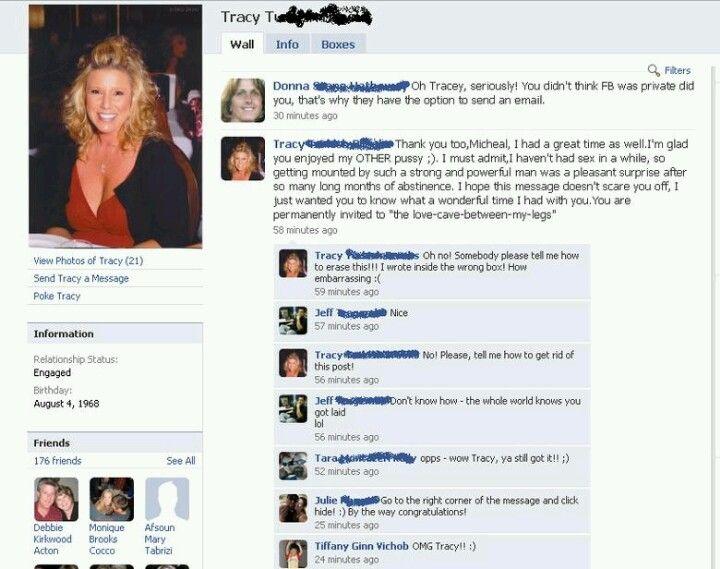 Embarrassing sexual facebook status updates