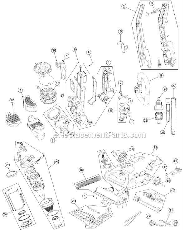 50 Hoover Vacuum Parts Diagram Xy3g di 2020