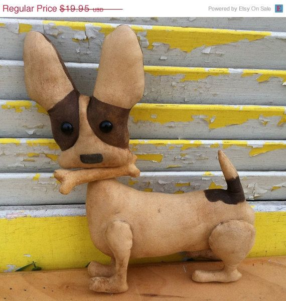 Welcome Spring Sale Primitive Brown Chico by Rabbithollowprims, $17.95
