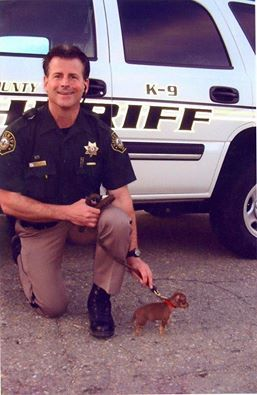 Sheriff K9 stop or I will send the dog! And you will get bit.....