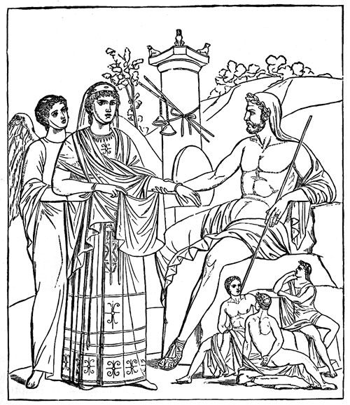 greek goddess gaia coloring pages | Ancient Greek Gods - Kronos and Rhea | Gods and divinities ...