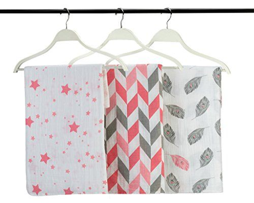 Swaddling And Receiving Blankets Amusing 3 Swaddling Receiving Blankets Muslin Cotton Swaddle Wrap Nursing Inspiration