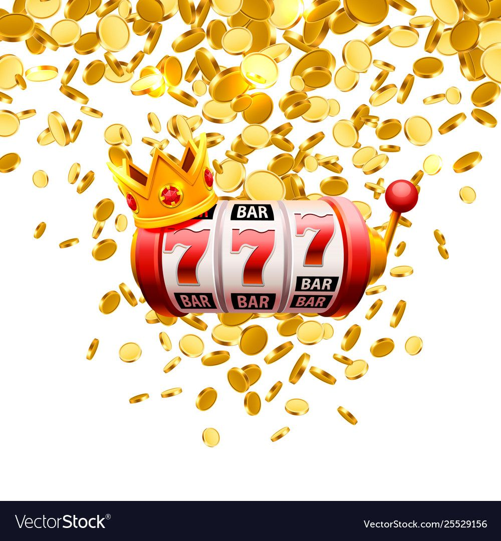 King slots 777 banner casino on white Royalty Free Vector