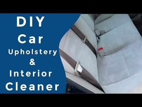 I needed a DIY car upholstery cleaner that was going to be