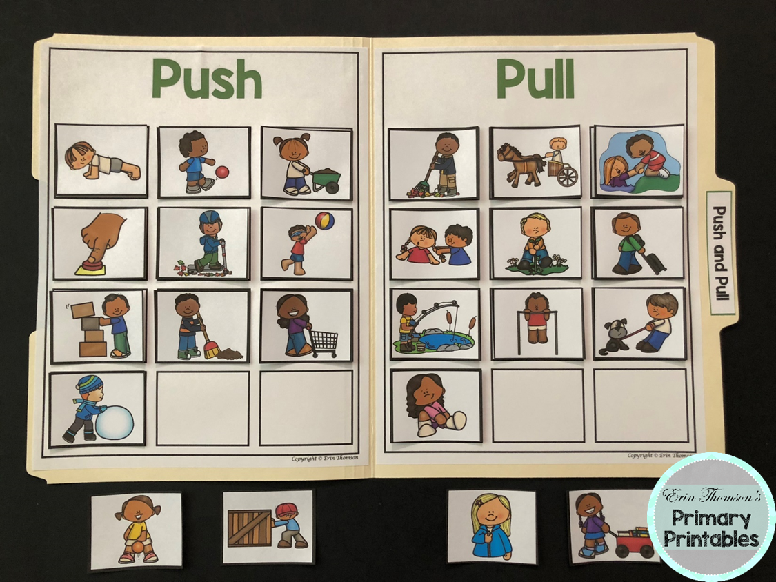 Science File Folder Activity Push And Pull