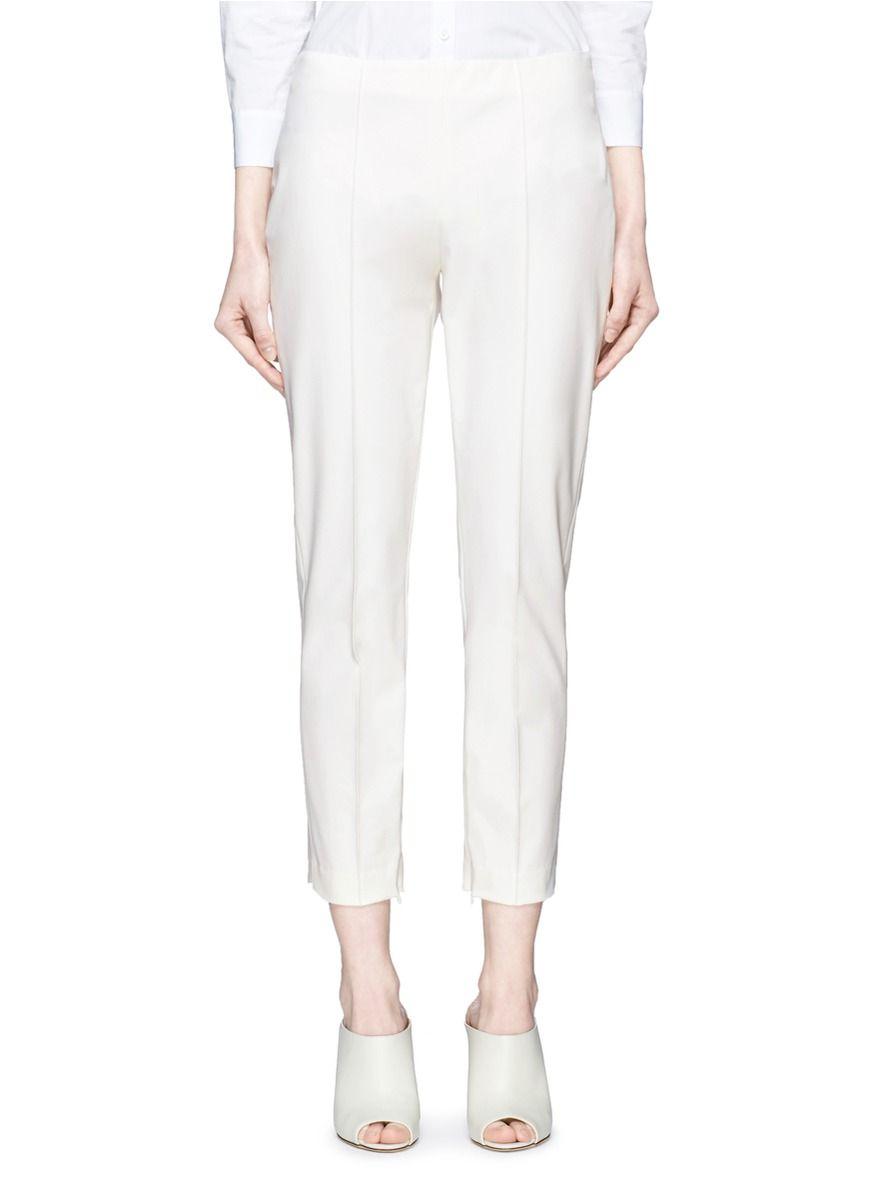 7f0f02a1c1 THEORY 'Alettah' Pintuck Cropped Skinny Pants. #theory #cloth #pants ...
