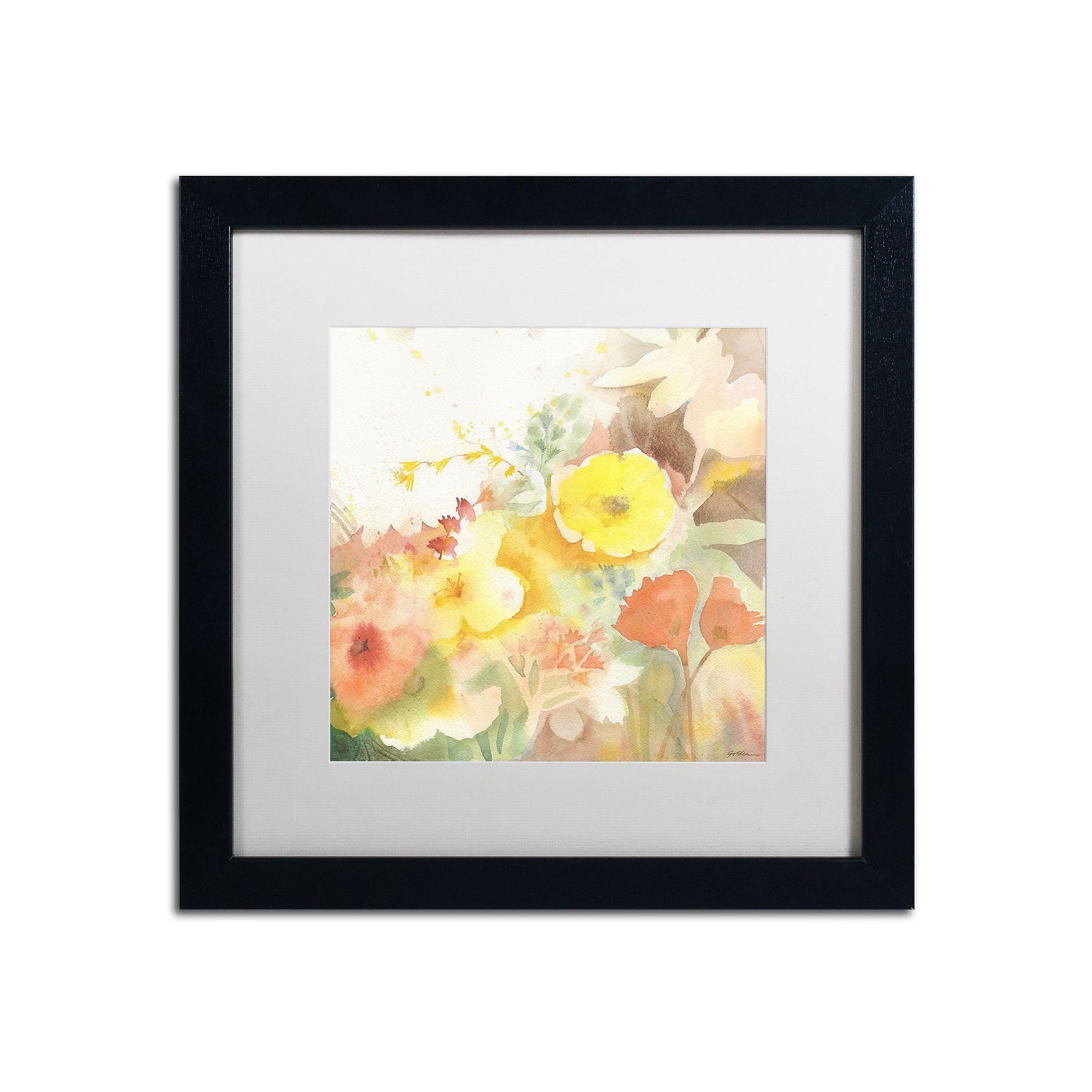 Trademark Fine Art Yellow Path Framed Wall Art | Framed wall art and ...