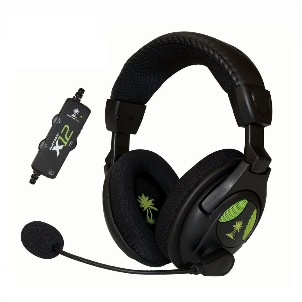 Turtle Beach Ear Force X12 Amplified Stereo Gaming Headset For Xbox 360 Pc Turtlebeach Gaming Headset